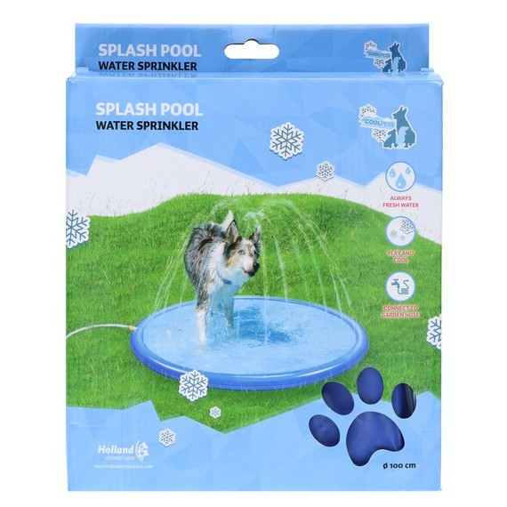 Verkoeling voor honden watersproeier zwembad hond oververhitting