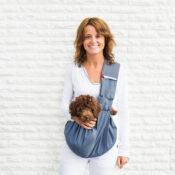 Ergonomische draagzak rugzak tas buidel hond puppy honden draagtas