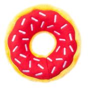 Donut rood zippypaws zippy paws knuffel speelgoed hond donutz