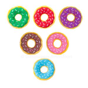Donutz Donuts zippypaws ZippyPaws alle kleuren rood groen blauw roze bruin paars hondenknuffel donutsknuffel hond Amerika instagram