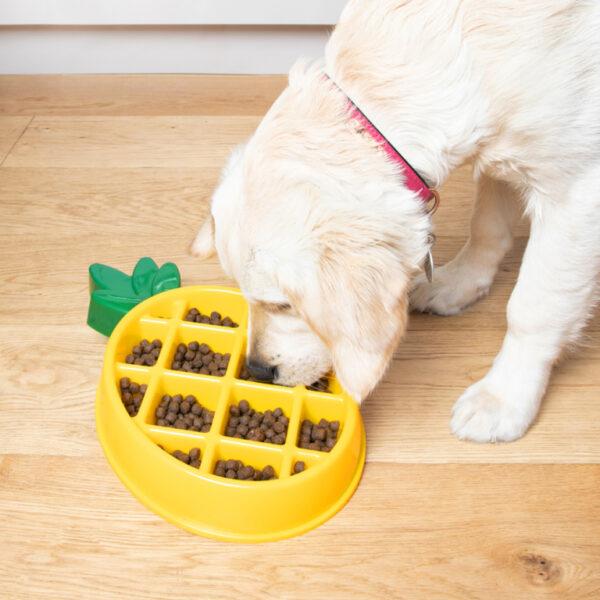 Zippypaws zippy paws hond speelgoed anti schokbak voerbak honden ananas pineapple