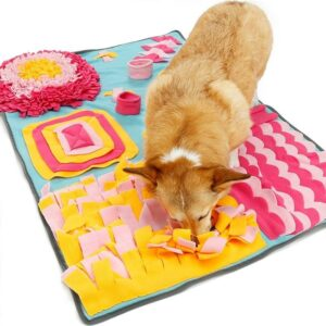 Snuffeldeken hond snuffelmat snuffel doek hersenwerk denkspel honden blauw