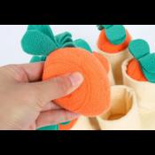 Snuffeldeken hond snuffelmat snuffel doek hersenwerk denkspel honden snuffelspel wortels