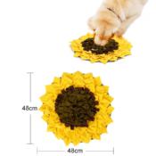 Snuffeldeken zonnebloem snuffelmat snuffle mat sunflower hond hersenwerk voerpuzzel voermat afmetingen