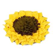 Snuffeldeken zonnebloem snuffelmat snuffle mat sunflower hond hersenwerk voerpuzzel voermat puppy