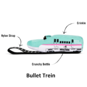 Play hondenspeelgoed knuffel Barking Bullet Train