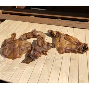 natuurlijke kauwsnack gedroogde struisvogelhuid struisvogelvlees hond snack bot struisvogel