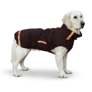 Regenjas rainy superfurdogs winterjas jas hond fleece warm hond aankleden bruin goedkoop action lidl