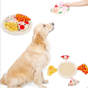 Snuffeldeken pizza snuffelmat snuffle mat pizza hond hersenwerk voerpuzzel voermat