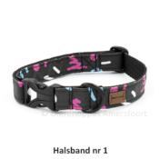 Eco friendly ecovriendelijke hondenhalsband honden halsband vrolijk stevig sterk kleurtjes print printjes handgemaakt op maat