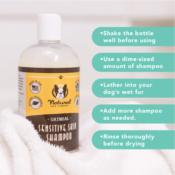 Natural Dog Company Shampoo Sensitive Skin hotspots allergieën jeuk huidproblemen hond