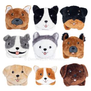 ZippyPaws Zippy Paws knuffel speelgoed hondenrassen Squeakie Bun Corgi, Labrador, Rottweiler, Border Collie, Duitse Herder, Husky, Franse Bulldog & Pitbull Stafford
