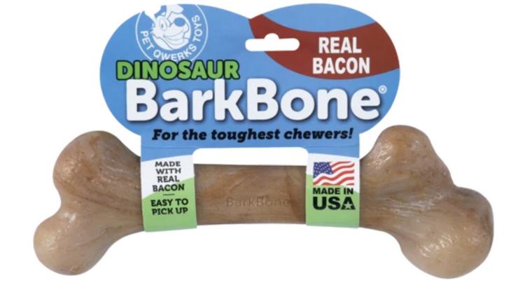 Pet Qwerks Petqwerks nylonbone nylabone sterk stevig kauwbot grote hond kaken kluif bacon dino dinosaurus