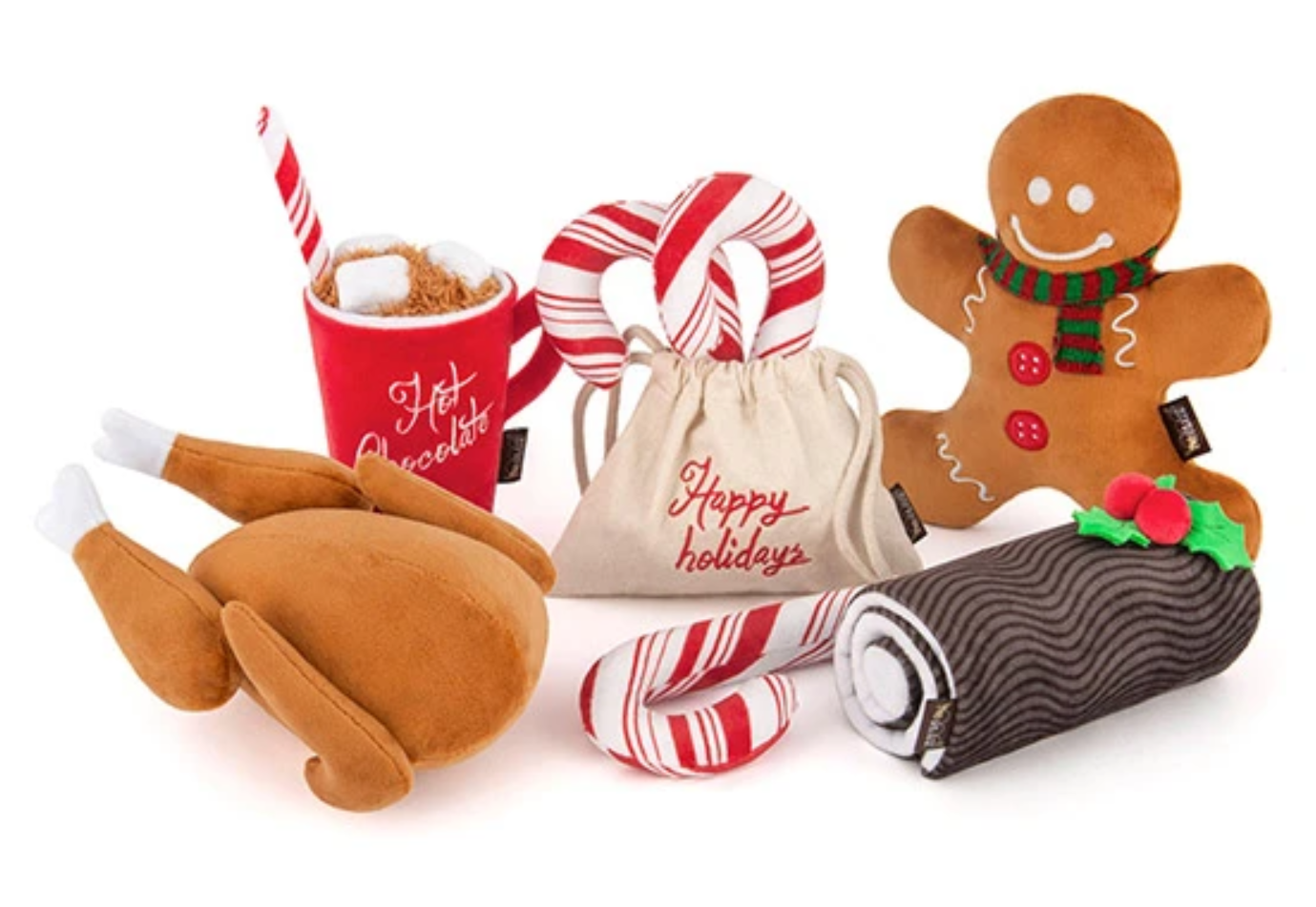 PLAY p.l.a.y. stevige kerstknuffels kerst knuffels hond honden Holiday Toys kerstdagen