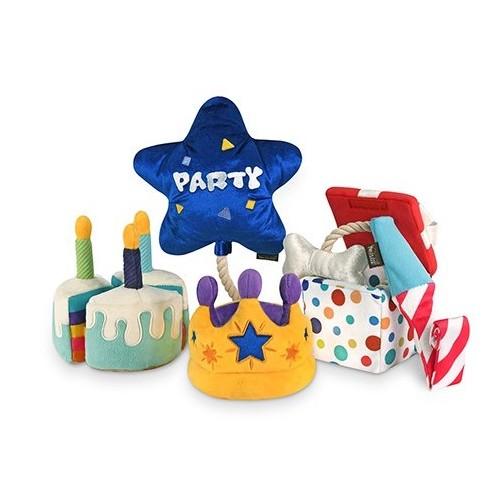Play verjaardagsknuffel verjaardag cadeautje hond hondenspeelgoed knuffel verjaardagstaart Party box feestje taart Toys P.L.A.Y.